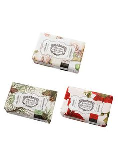 (Own) Soaps (Cotton, Red Poppies and Mediterrean Pine) by Panier Des Sens