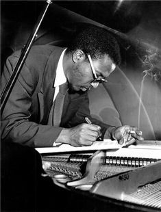 """There ain't no wrong notes on the piano"" Thelonious Sphere Monk (October 1917 – February was an American jazz pianist and composer considered ""one of the giants of American music"". Jazz Artists, Jazz Musicians, Music Artists, Diahann Carroll, Count Basie, John Lee Hooker, Ella Fitzgerald, Miles Davis, Louis Armstrong"