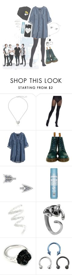 """▫ i'm addicted to your fix ▫"" by jazziwheat ❤ liked on Polyvore featuring Marc by Marc Jacobs, Pretty Polly, H&M, Dr. Martens, ADORNIA, Cynthia Rowley and LeiVanKash"