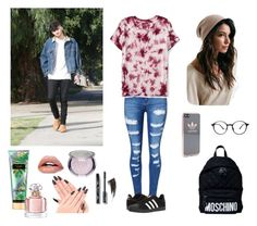 """Day Out W/ Zayn"" by ruby94s ❤ liked on Polyvore featuring WithChic, Aéropostale, adidas, Moschino, Victoria's Secret and Guerlain"