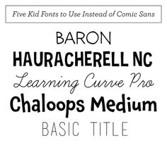 Five Great Kid Fonts — Hank and Hunt Party Crafts