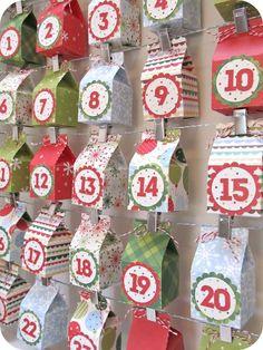 DIY / Semplici e facili calendari dell'avvento fai da te: 100 e più idee