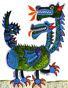Illustration by Hungarian Artist Károly Reich - We Love Draegons Charcole Drawings, Dragon Z, Children's Book Illustration, Art Lessons, Folk Art, Design Art, Fairy Tales, Character Design, Little Monsters