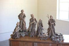 set of 6 driftwood nativity
