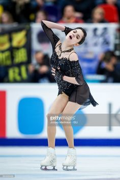 Evgenia Medvedeva of Russia competes in the Ladies Free Skating during day two of the ISU Grand Prix of Figure Skating, Rostelecom Cup at Ice Palace Megasport on October 21, 2017 in Moscow, Russia.