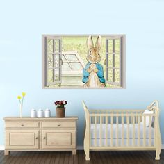Peter Rabbit Window Wall Sticker