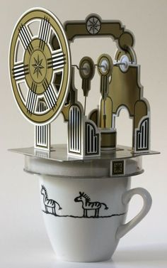 Paper Forest: Stirling Paper Engine runs on Coffee. Stirling Engine, Museum Poster, Paper Engineering, City Museum, Cuppa Tea, Automata, Paper Art, Recycling, Old Things