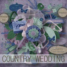 "Free scrapbook ""Country wedding"" from Jessica art-design"