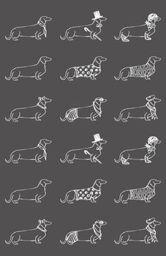 love for the wiener dog Art Print