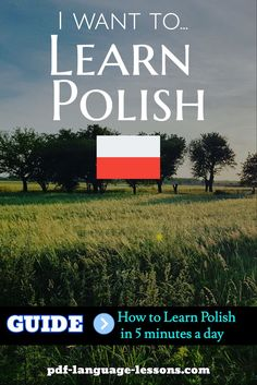 Want to learn Polish in 5 minutes a day? Here are the audio lessons, video lessons, PDF books and programs that will help you. Language Study, Language Lessons, Polish To English, Learn Polish, Polish Words, Polish Language, Visit Poland, Learn Russian, Poland Travel