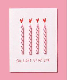 DIY Valentine, birthday candles