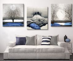 Own this amazing blue lands scenery wall canvas today we will ship the canvas for free. This is the perfect centerpiece for your home. It is easy to assemble and hang the panels together which makes this a great gift for your loved ones. This painting is printed not handpainted and is ready to hang! We have 4 options for this canvas -- Size 1: (12 x 12 inches) Size 2: (16 x 16 inches) Size 3: (20 x 20 inches) Size 4: (24 x 24 inches)check out more canvases visit www.octotreasures.com