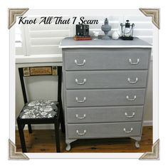 Knot All That I Seam: Blue Dresser Part 2 - The Makeover!