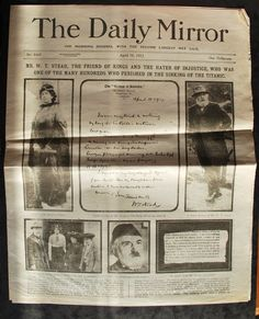 The Daily Mirror story of the sinking of the Titanic