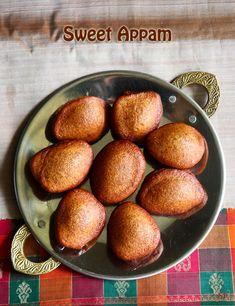 Godhumai maavu appam recipe, Instant wheat flour sweet appam recipe Veg Recipes, Indian Food Recipes, Ethnic Recipes, Appam Recipe, Powdered Water, Cardamom Powder, Indian Sweets, Rice Flour