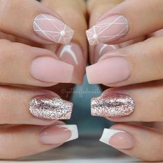 21 Ideas of Sweet Nude Nails With Glitter That Every Girl Will Love ❤ Nude Nails with Glitter for Every Day picture 2 ❤ Nude nails with glitter is that perfect combination that can suit any occasion – be it a day at the office or a fancy party to attend. https://naildesignsjournal.com/sweet-nude-nails-with-glitter/ #naildesignsjournal #nails