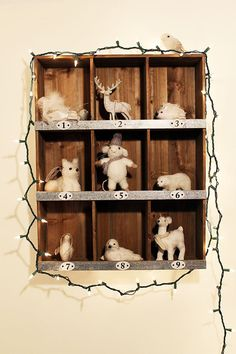 Place ornaments in a bookshelf: