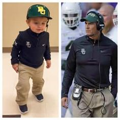 Mini Art Briles! The perfect Baylor Halloween costume. #SicEm
