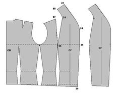 From one of the best pattern drafting sites. DOUBLE-BREASTED WAISTCOAT   Weekend designer