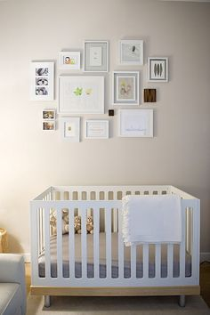 Love this little gallery wall above the crib (via A cup of Jo)