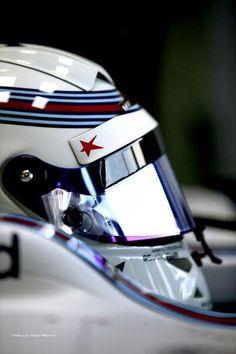 "Helmet of  Susie Wolff.""Red star"" is a symbol of Maria de villota /Friday FP1 BritishGP 2014"