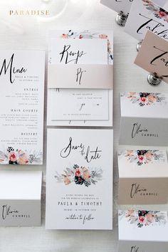 Janessa Wedding Invitation Sets Printable Wedding Invitations