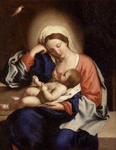 Il Sassoferrato prop. Giovanni Battista Salvi da Sassoferrato (25Aug1609-8Aug1685), also known as Giovanni Battista Salvi, an Italian Baroque painter (1609-1685)   Madonna with the Christ Child   Flickr - Photo Sharing!