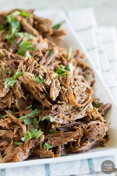 Tender and flavorful, this pressure cooker Chipotle Shredded Beef has just the right amount of spice and is perfect for tacos or burritos.
