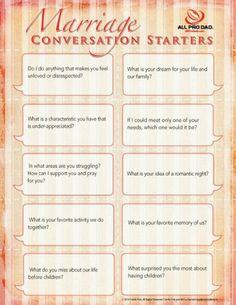Marriage conversation