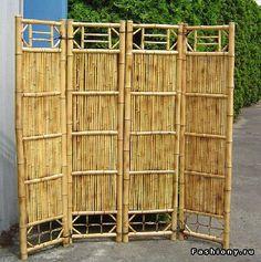 Как сделать ширму своими руками из бамбука
