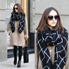 Image result for tartan scarf winter fashion