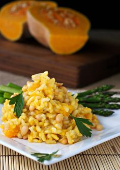 Butternut Squash and White Bean Risotto ~vegan, gluten free~ The epitome of comfort food!  A surprisingly quick and easy weekday meal option...