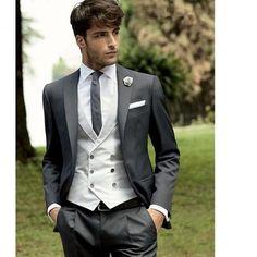 Custom Made Men Wedding Suit Prom Tuxedo Slim Fit 3 Piece Groom Wear Blazer New Indian Men Fashion, Mens Fashion Suits, Mens Suits, Tuxedo Wedding, Wedding Men, Wedding Suits, Wedding Tuxedos, Wedding Dress, Groom Tuxedo
