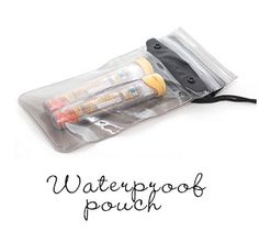 Waterproof see-through pouch for 2-3 Epi-Pens has two level zip lock closure and snap buttons with shoulder strap of 58 inches (147.32 cm). Apparently protects against sand even! #foodallergy #epipen