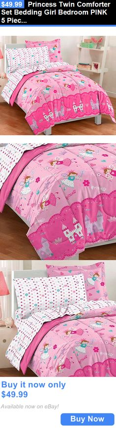 Kids Bedding: Princess Twin Comforter Set Bedding Girl Bedroom Pink 5 Pieces Sheet Set Magical BUY IT NOW ONLY: $49.99