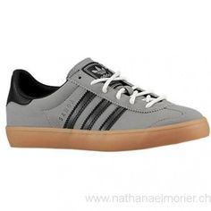 Kinder - adidas Originals Samoa Vulc Grade School Sportschuhe Solid Grey/Rot/Weiß - Schuhe Größe:28,29,30,31,32,33,34,35