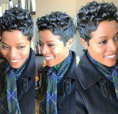 Short Haircuts for Black Females [adinserter Haircut Natural Hair Haircut Pixie Hair Hair Black Women Short Hairstyles, Cute Hairstyles For Short Hair, Pixie Hairstyles, Pixie Haircut, Asian Hairstyles, Braid Hairstyles, Saree Hairstyles, Teenage Hairstyles, Hairstyles 2016