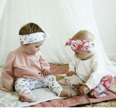 Lulu and milly girls headbands and leggings. Roses woodland print. Organic soft made in australia