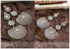 Sutra earrings from Aaraa by Avantika handcrafted in sterling silver studded with pearls.