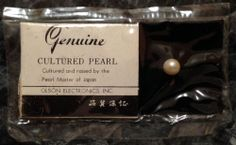 Genuine Cultured Pearl - Cultured & raised by the Pearl Master of the Japan #VintagePearl #Rarefind #PearlMasterofJapan