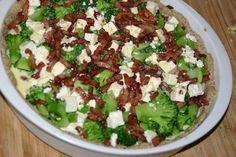 Broccolitærte med bacon og feta 6