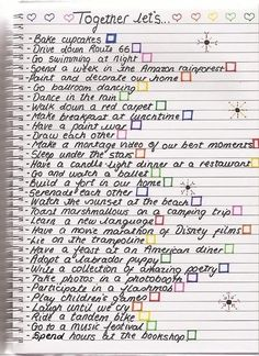 Bestie's Bucket List Make a bestie bucket list for your summer together, upcoming vacation or your remaining time in college. So many possibilities!
