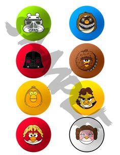 Angry Birds Star Wars  Printable Cupcake by yellowbirdesign, $4.00