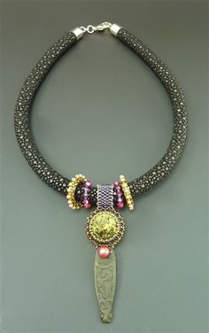 Laura McCabe - Artifactual Necklace, Anglo Saxon Leather Strap End