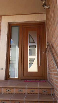 """Unique 50 Modern And Classic Wooden Main Door Design Ideas A door is a hinged or mobile barrier that allows entry and exit to an """"enclosure"""". Modern Entrance Door, Main Entrance Door Design, Wooden Front Door Design, Modern Exterior Doors, Double Door Design, Wooden Front Doors, House Main Door Design, Traditional Front Doors, Decoration"""
