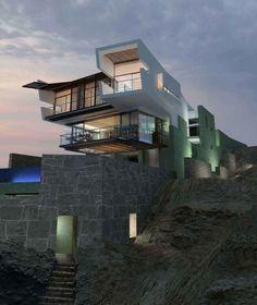 Casa Minimalista Acantilado