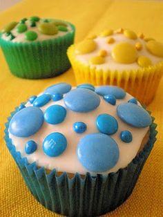 Polka dot cupcakes...
