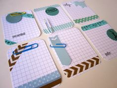 Handmade Project Life Cards (BumpOfKnowledge @ Etsy)