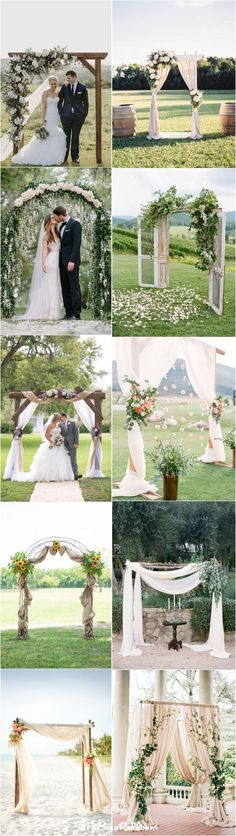 Beautiful Wedding Arches & Canopies / http://www.himisspuff.com/wedding-arches-wedding-canopies/