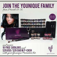 "Join my ""Younique"" Team and get all $400.00 worth of products for $99.00.....Let me show you how ! https://www.facebook.com/groups/284440911713866/"